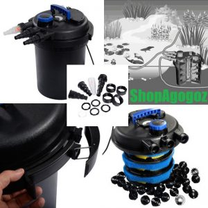 Koi Fish Pond Pressure Bio Filter Tank Pump Kit