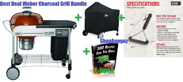 Weber Portable Performer Deluxe Charcoal Grill Combo
